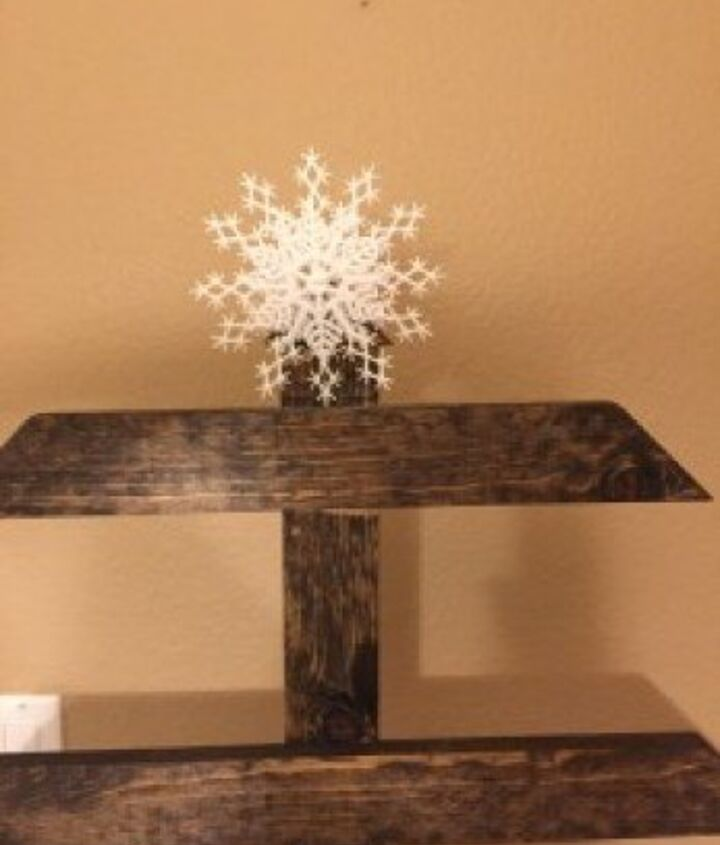 diy christmas card display tree rustic, christmas decorations, crafts, seasonal holiday decor, woodworking projects