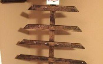 Rustic DIY Christmas Card Display Tree