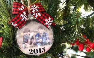snow globe photo ornaments, christmas decorations, crafts, seasonal holiday decor