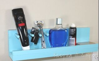 diy bathroom shelf for a razor and beard trimmer bathroom diygifts, bathroom ideas, diy, shelving ideas, woodworking projects