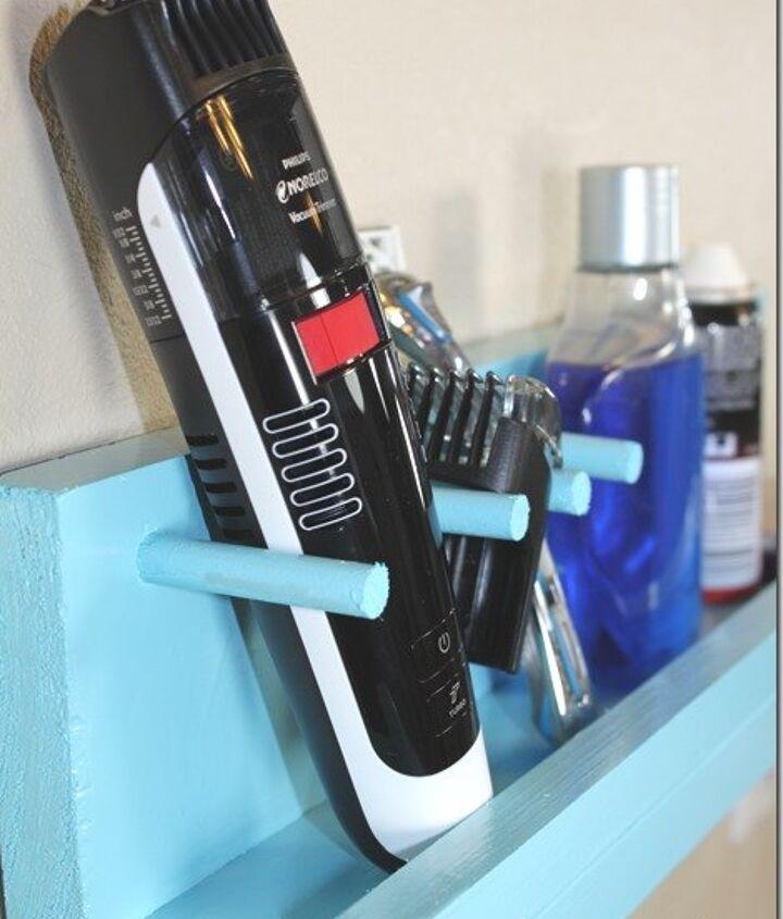diy bathroom shelf for a razor and beard trimmer bathroom diygifts, bathroom ideas, diy, shelving ideas, woodworking projects