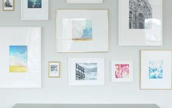 gallery wall diy mattes for ikea ribba frames, wall decor
