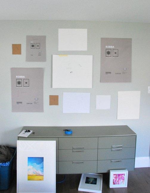 Gallery Wall + DIY Mattes for IKEA Ribba Frames   Hometalk