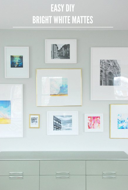 Gallery Wall + DIY Mattes for IKEA Ribba Frames | Hometalk
