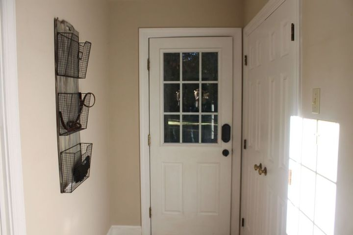 entry transformation with ladders, foyer, home decor, woodworking projects, entry before