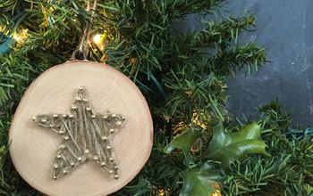 DIY String Art Wood Slice Ornament