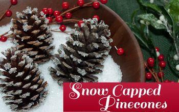 DIY Snow Capped Pinecones