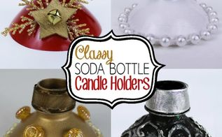 soda bottle candles holders repurpose, crafts, repurposing upcycling