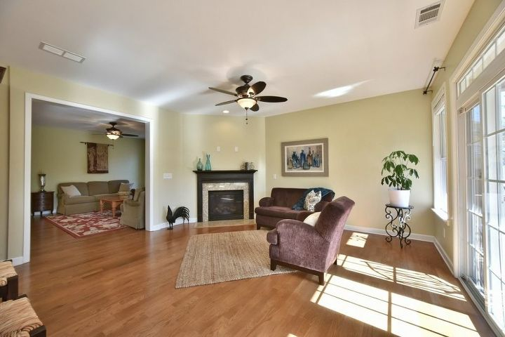 q here are more pics of my house for sale, dining room ideas, home decor, living room ideas, painting, wall decor, Wide angled view keeping room next to kitchen