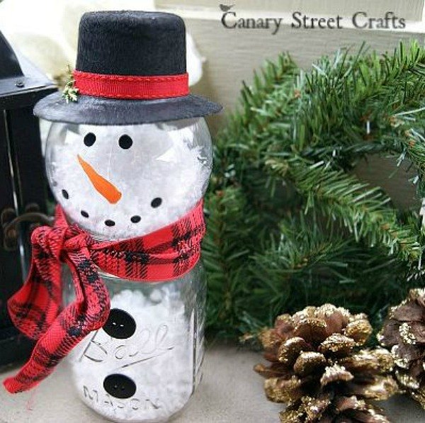 s 15 insanely cute snowmen for every corner of your home, home decor, Ornament and Jar Gentleman