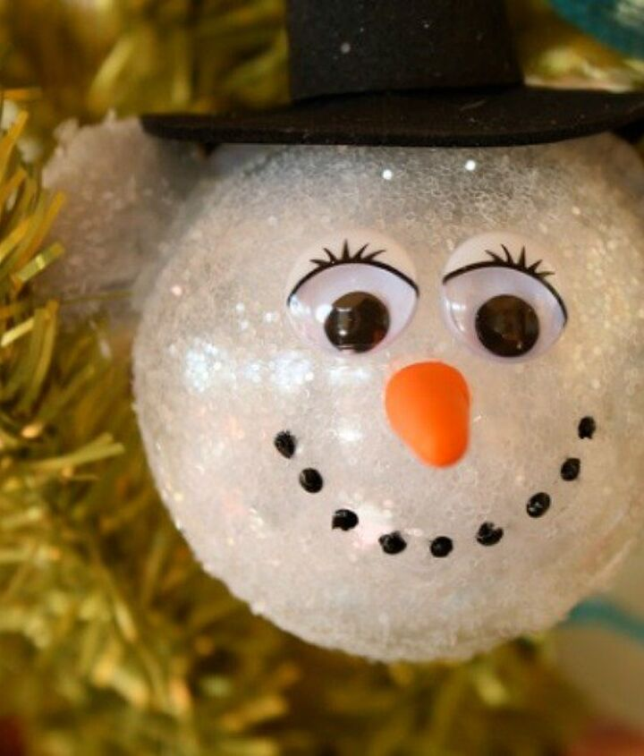 s 15 insanely cute snowmen for every corner of your home, home decor, Sparkly Snow Ornament