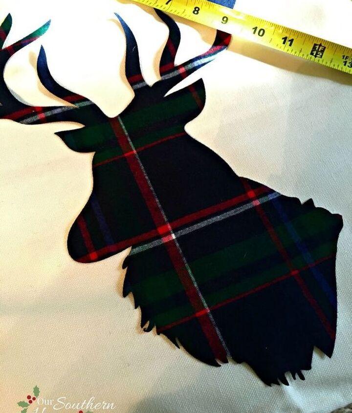 diy reindeer pillow, crafts, reupholster