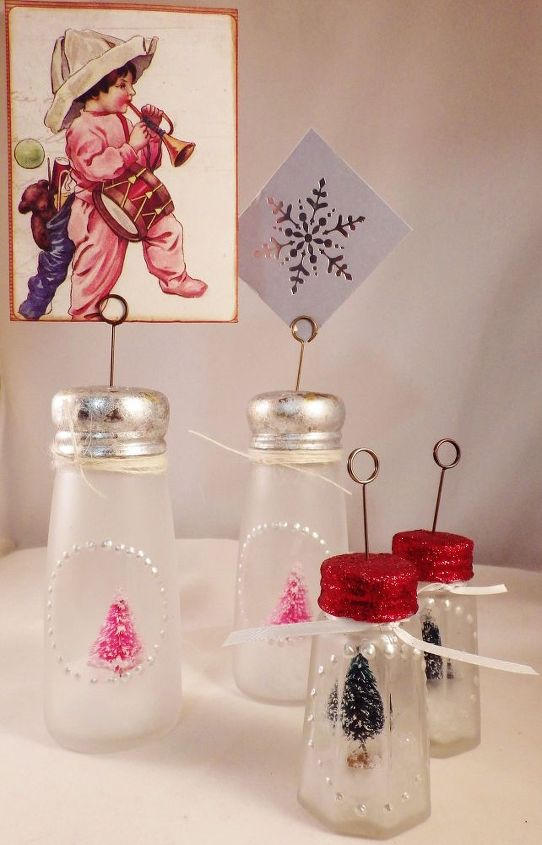 salt pepper shakers into holiday decor, christmas decorations, crafts, seasonal holiday decor