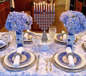 hannukah french blue and white holiday table setting home decor seasonal holiday decor & Hanukkah Table: French Blue and White Holiday Table Setting | Hometalk