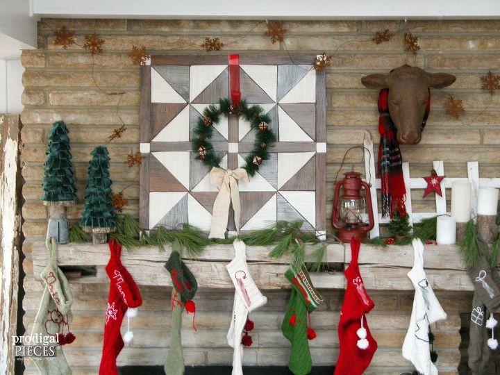diy barn wood wall quilt vinyl flooring, diy, wall decor, woodworking projects