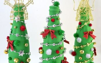 coca cola glass bottle christmas tree craft, christmas decorations, crafts, repurposing upcycling