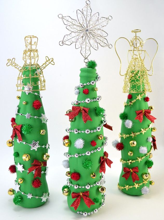 Glass Bottle Christmas Crafts