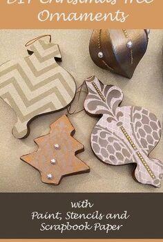 diy stenciled christmas tree ornaments, christmas decorations, crafts, seasonal holiday decor, DIY Stenciled Christmas Tree Ornaments