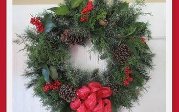 DIY Festive Evergreen Holiday Wreath on a Budget