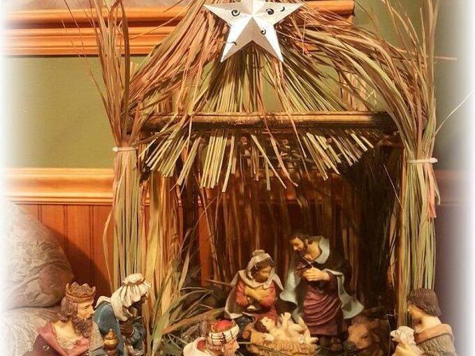 stable, christmas decorations, repurposing upcycling, seasonal holiday decor