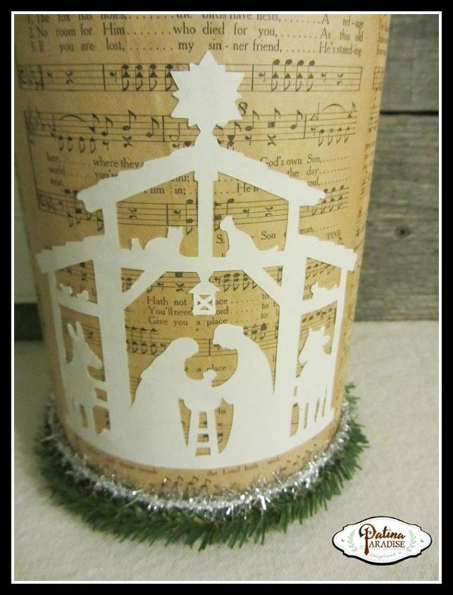 repurpose oatmeal container gift box christmas, christmas decorations, crafts, decoupage, repurposing upcycling, seasonal holiday decor