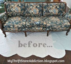 Transformed Sofa With Chalk Paint, Chalk Paint, Painted Furniture,  Reupholster