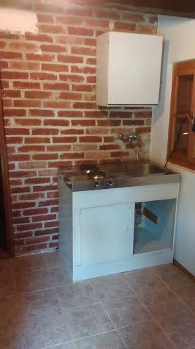 Small Brick Kitchen for Traditional, Wooden Croatian House ... on brick entry ideas, brick bath ideas, brick shower ideas, brick studio ideas, brick kitchen island, brick stairs ideas, brick interior ideas, brick kitchen backsplash, brick home ideas, brick outdoor ideas, brick veneer kitchen, brick office ideas, brick screened in porch ideas, brick kitchen countertops, brick garage ideas, brick entrance ideas, brick privacy fence ideas, brick tile ideas, brick centerpiece ideas, brick and wood kitchen,