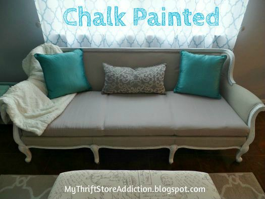 Transformed A Yard Sofa With Chalk Paint Painted Furniture