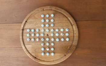 solitaire with marbles homemade, crafts, woodworking projects