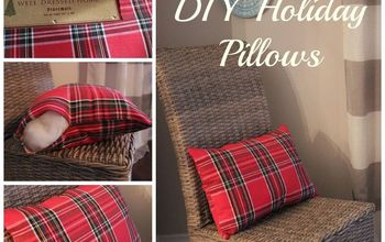 Last Minute DIY Placemat Holiday Pillows
