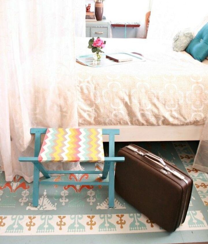 s 18 budget friendly home updates for guests, home decor, seasonal holiday decor, Add a DIY Luggage Rack to The Guest Room