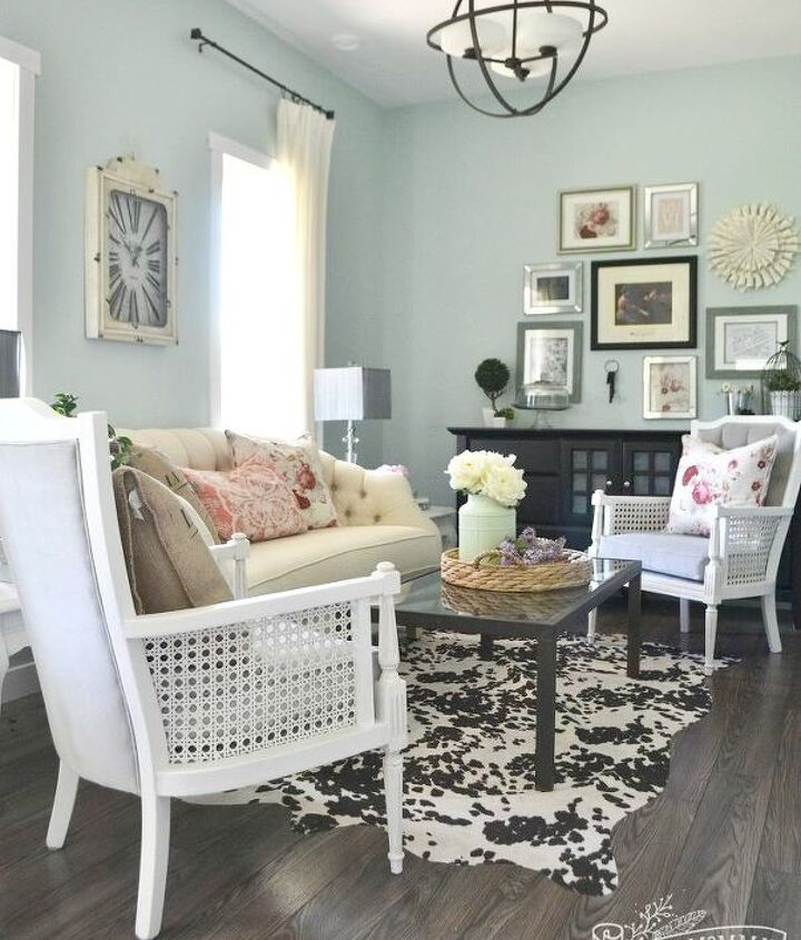 s 18 budget friendly home updates for guests, home decor, seasonal holiday decor, Cover Scratched Floors with a Homemade Rug