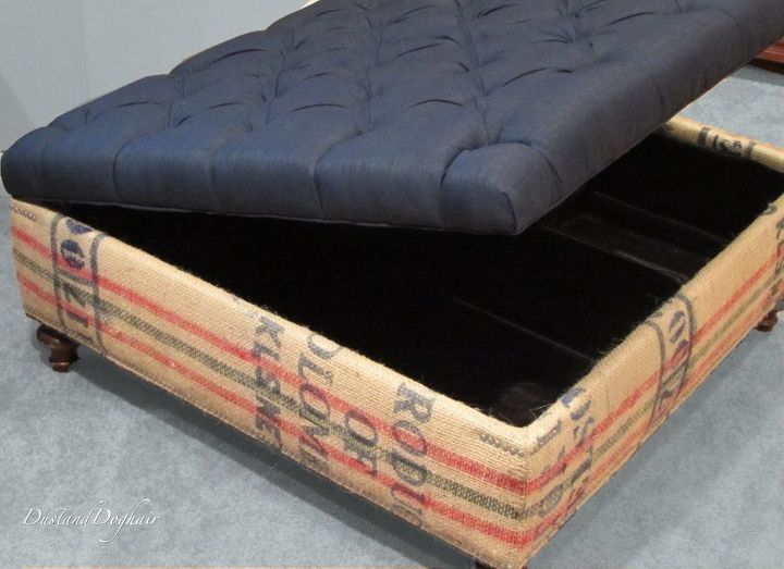 an authentic diy coffee table storage ottoman hometalk. Black Bedroom Furniture Sets. Home Design Ideas