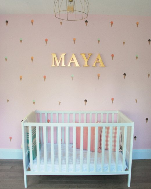 how to create an accent wall in a nursery hometalk