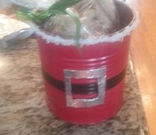 recycled cans into cookie tin christmas, christmas decorations, repurposing upcycling, seasonal holiday decor