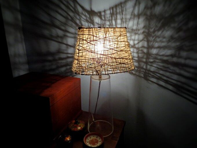 make jute lampshade cheap, crafts