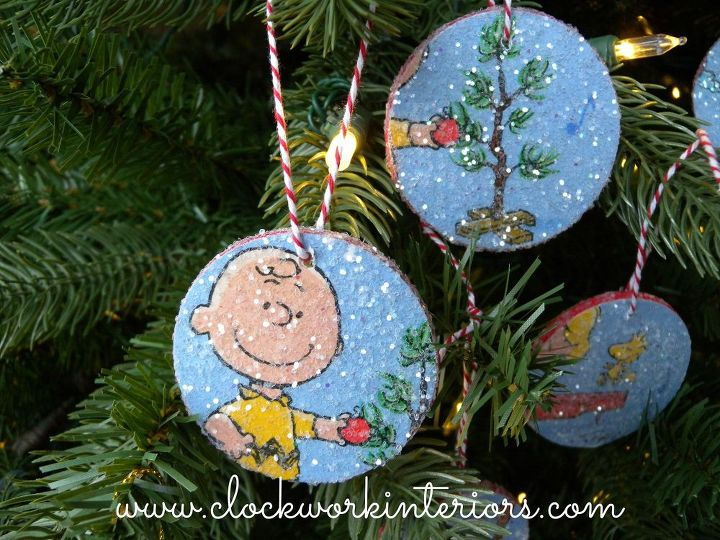 christmas ornaments charlie brown kids project christmas decorations crafts decoupage seasonal holiday