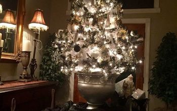 dingy white tree tree spray painted black, christmas decorations, seasonal holiday decor