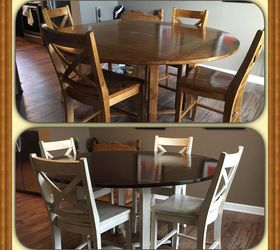 Painted Kitchen Table Makeover, Painted Furniture