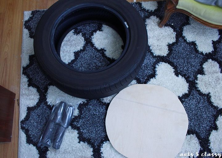 diy storage ottoman project tutorial tire upcycle, diy, how to, organizing, repurposing upcycling, storage ideas, reupholster