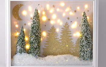 winter twinkle display tutorial, christmas decorations, crafts, repurposing upcycling