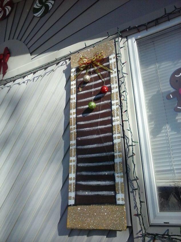 christmas yard display cardboard boxes, christmas decorations, outdoor living, seasonal holiday decor