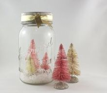 christmas trees craft vintage styled, christmas decorations, crafts, how to, seasonal holiday decor, Make a snow globe