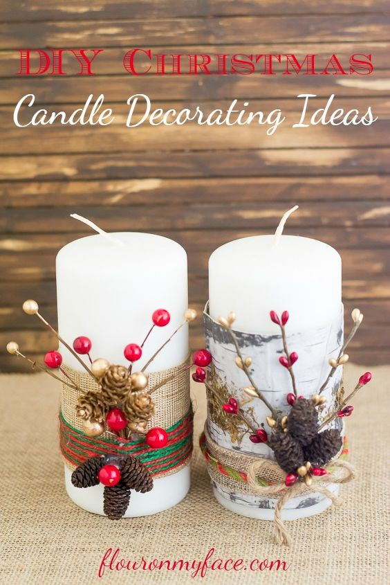 festive christmas candles - Christmas Candle Decorations