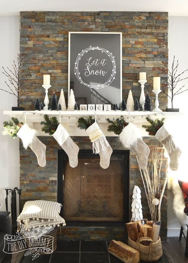 Mantel decorating tricks hometalk for How to decorate a fireplace for christmas
