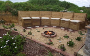 firepit in the chill out area, decks, electrical, outdoor living