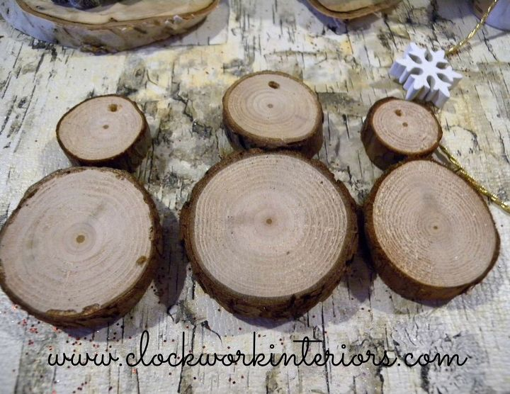 christmas ornaments how to wood slice snowmen, christmas decorations, crafts, how to, seasonal holiday decor