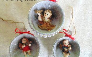 Vintage Measuring Cup Shadow Box Ornaments