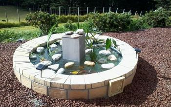 Upcycling an Old Spa Into a Fishpond/Fountain