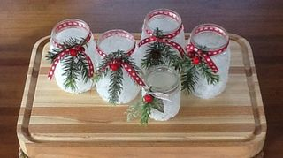 , Icy candle jars on my Hometalk page
